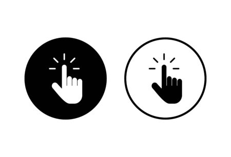 Hand cursor icons set on white background. Hand click icon. Finger pointer isolated vector