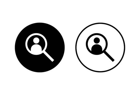 Hiring icons set on white background. Human resources concept. Recruitment. Search job vacancy icon. Hire. Find people icon