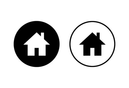 Home icons set on white background. House vector icon. Address