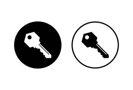 Key icons set on white background. Key vector icon. Key symbol