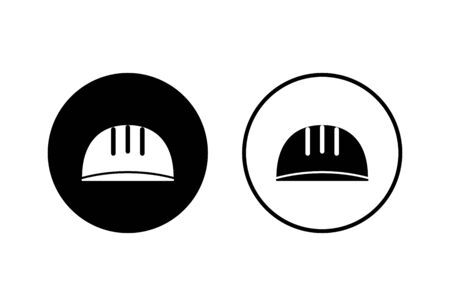Helmet icons set on white background. Motorcycle helmets. Racing helmet. construction helmet icon. Safety helmet
