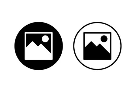 Picture icons set on white background. Picture vector icon. photo gallery icon vector
