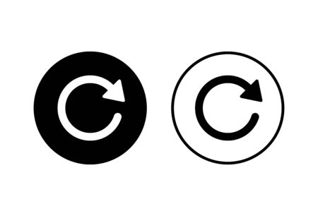 Refresh icons set on white background. Reload icon vector. Update icon. convert icon