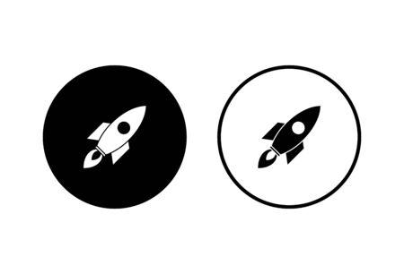 Rocket vector icons set on white background. Start Up Concept Symbol. Startup icon