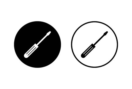 Screwdriver icons set on white background. Screwdriver vector icon Ilustrace