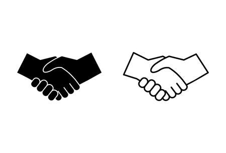 Handshake icons set on white background. Business handshake. contract agreement. Trust icon vector. Deal. Done. partnership icon Vektorové ilustrace