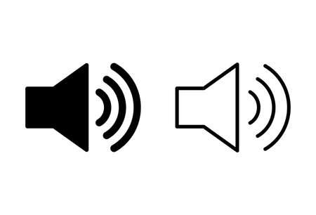Speaker icons set. Volume icon. Loudspeaker icon vector. Audio. Sound