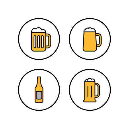 Beer icons set. Beer Icon in trendy flat style