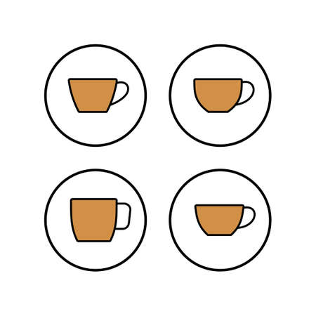 Cup of coffee icons set. Coffee cup icon. Coffee vector icon. Tea