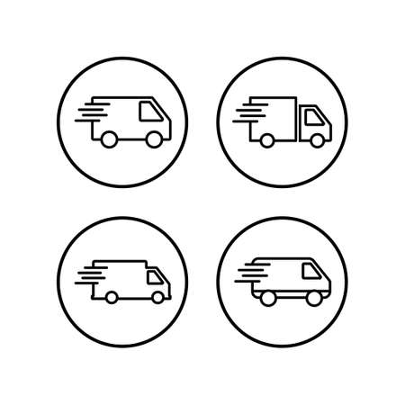 Delivery Icons set. Fast Delivery Icon. Fast shipping delivery truck. Truck icon delivery