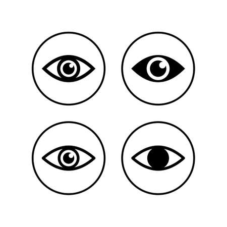 Eye icons set. Look and Vision icon. Eye vector icon
