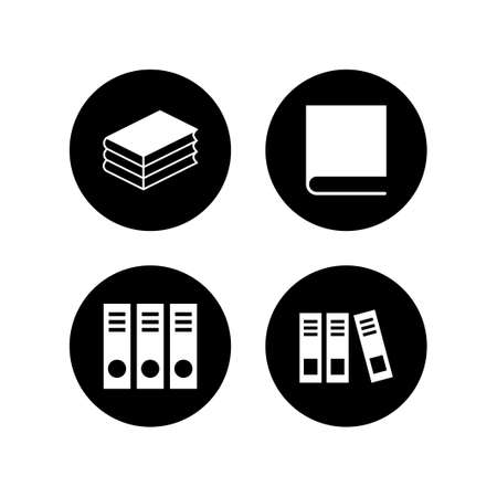 Library icons set. Book icon vector