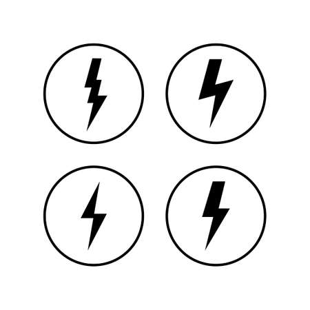 Lightning icons set. Bolt icon vector. Energy and thunder electric icon