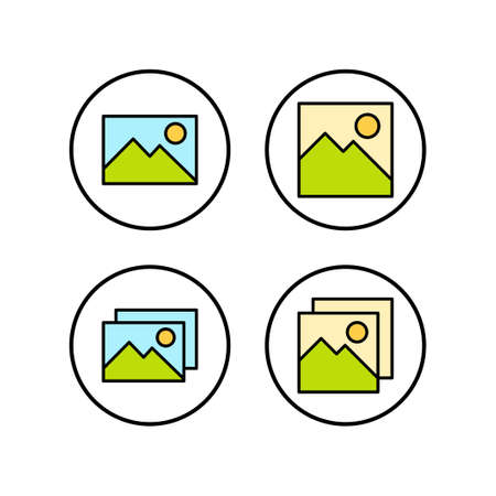 Picture icons set. Picture vector icon. photo gallery icon vector Ilustração
