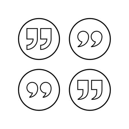 Quote icons set. Quote sign icon. Quotation mark symbol.