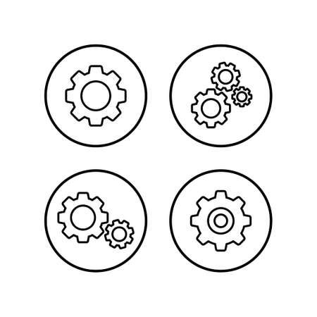 Setting Icons set. Setting vector icon. Cog Settings Icon Symbol. Gear