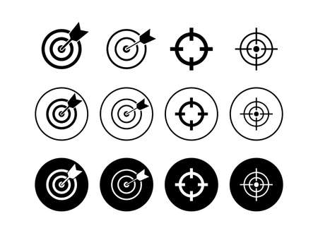 Set of Target icons. Target vector icon. goal icon. marketing target. Aim