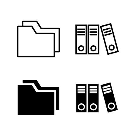 set of Archive folders icons. binders vector icon