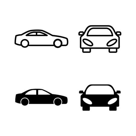 set of Car icons. Car icon vector Vettoriali