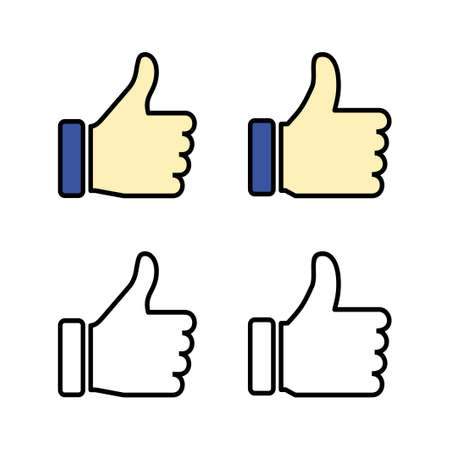 set of Like icons. Thumbs up icon. social media icon