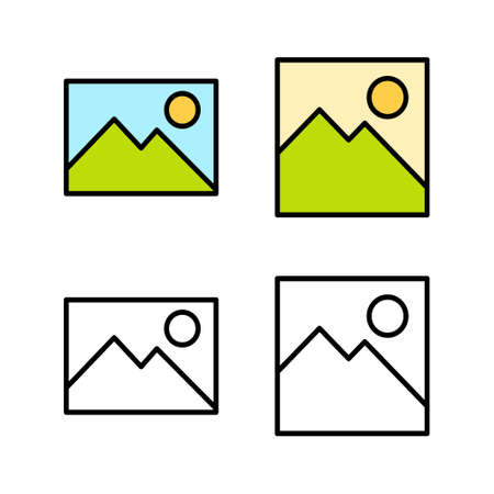 Set of Picture icons. Picture vector icon. photo gallery icon vector