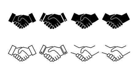 set of Handshake icons. Business handshake. contract agreement. Trust icon vector. Vektorgrafik