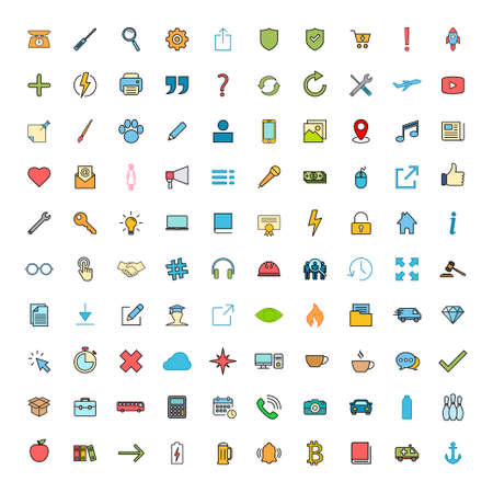 Web icon set. Contact us icon set. Business, ecommerce, finance, accounting