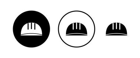 Helmet icons set. Motorcycle helmets. Racing helmet. construction helmet icon. Safety helmet