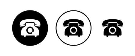 Telephone icons set. Phone icon vector. Call icon vector.