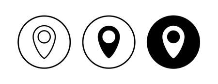 Pin icons set. Location icon. Map pointer icon. Point.