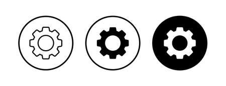 Setting Icons set. Setting vector icon. Cog Settings Icon Symbol.