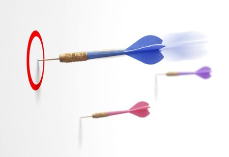 3 darts on a white background symbol of communication, business success photo