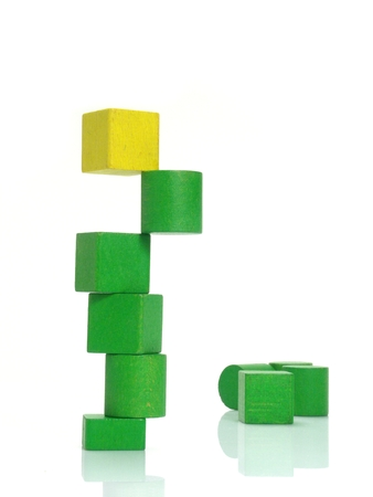 stacked cubes symbol of success and an healthy lifestyle photo