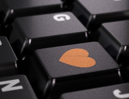 favourites: heart on a keyboard key