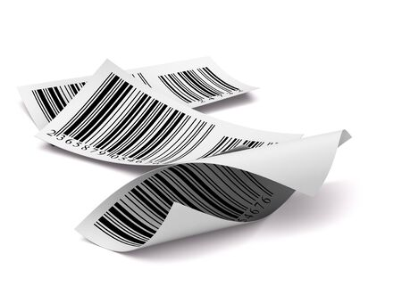 barcode: barcodes stickers with differents colours over a white background Stock Photo