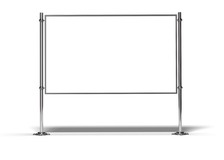 blank frame with two posts image is isolated over white with shadow Stock Photo - 7837794
