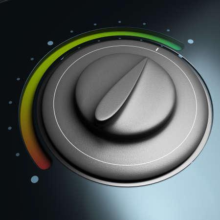 ahorro energia: bot�n de energ�a con el s�mbolo de colores rojo y verde de ahorro de energ�a Foto de archivo