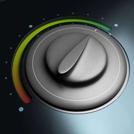 energy button with red and green colors symbol of energy saving photo