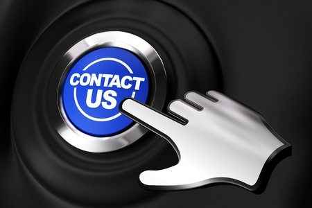 Contact us button and a computer hand. Black background Stock Photo - 10571052