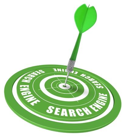 target and dart symbol of a keyword search in a search engine photo