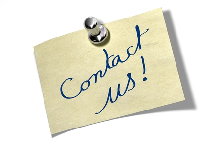 contact us: memo note where it