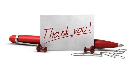 manuscrita: Word, agradece-lhe escrito em um cart