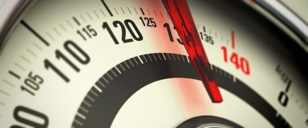 Weight Scale: Overweight concept, close-up of a bathroom scale