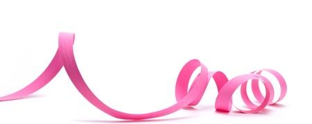 bobina: Cinta rosa sobre fondo blanco elemento de diseño,