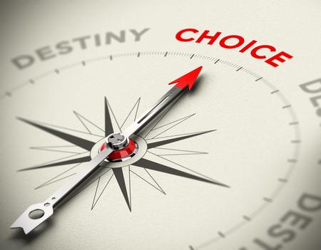 Abstrakt Kompass mit Nadel zeigt die Wortwahl Konzeptionelle Bilder, die Kontrolle über Ihr Leben oder Motivation Konzept 3D mit Fokus auf dem roten Wort machen Standard-Bild - 26589736