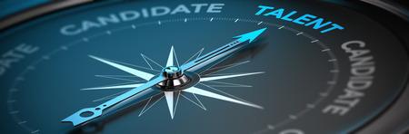 aziende: Immagine adatto per l'illustrazione di una agenzia di reclutamento o di Talent Acquisition astratta bussola