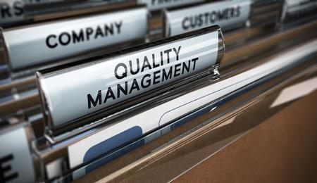 gestion empresarial: Fichas de carpeta con el enfoque y efecto de desenfoque. Empresas concepto de imagen para la ilustraci�n del sistema de gesti�n de calidad.