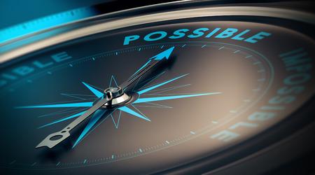 Motiverende concept, realisatie van doelen dankzij vertrouwen. Kompas de tekst geld besparen, blauw en beige tinten wijzen. Stockfoto