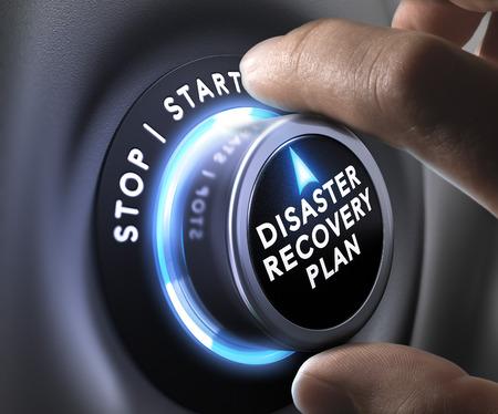 crisis economica: Botón del interruptor de DRP