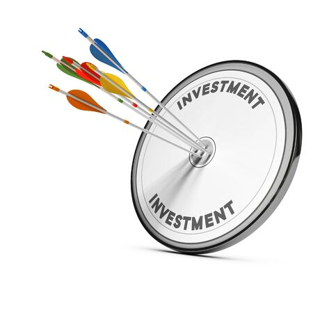 profitability: Five arrows hitting the center of an investment target